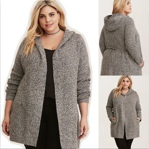 Torrid Marled Sweater Coat